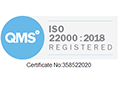 ISO 22000 Certified